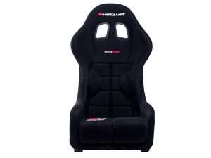 Motamec-Racing-Evo-Two-FIA-Approved-Race-Seat-GRP-Shell-Side-Mount-BLACK---front-view